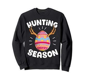 Hunter Hunting Season Easter Sweatshirt Egg Women Men Bunny