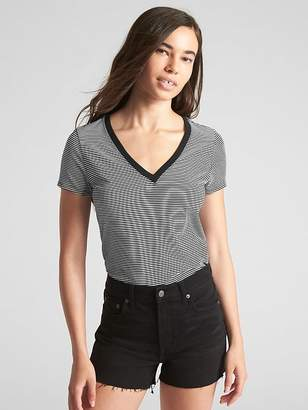 Gap Stripe Vintage V-Neck T-Shirt