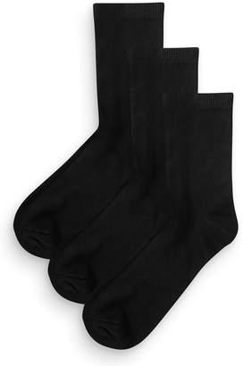 Next Womens Black Ankle Socks Three Pack