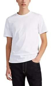 Helmut Lang Men's Mesh-Overlay Logo-Print T-Shirt - White