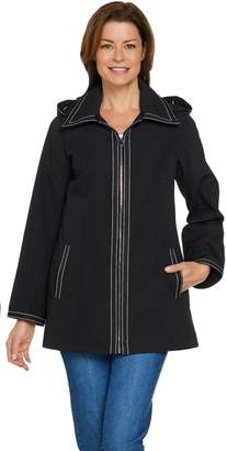 Dennis Basso Water Resistant Jacket with Striped Lining