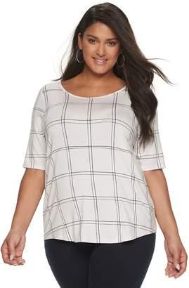 Apt. 9 Women's Plus Size Essential Elbow Sleeve Top