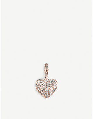 Thomas Sabo Charm Club Sparkly rose gold-plated heart charm