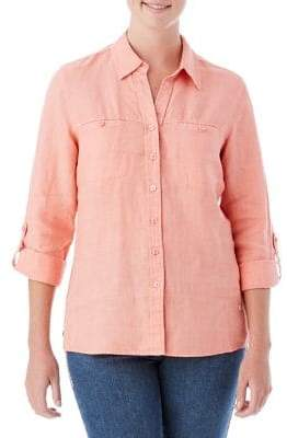 Olsen Linen Button-Down Shirt