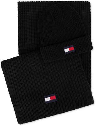 Tommy Hilfiger Men Logo Hat & Scarf Set