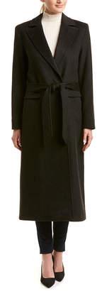 Sofia Cashmere sofiacashmere Sofiacashmere Wool-Blend Boyfriend Coat