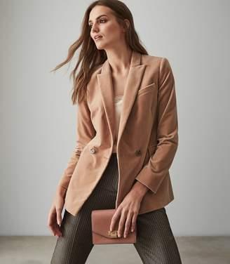 Reiss Aubrie - Velvet Blazer in Pink