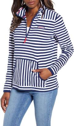 Vineyard Vines Stripe Terry Relaxed Pullover