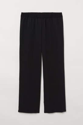 H&M H&M+ Wide-leg Pants - Black