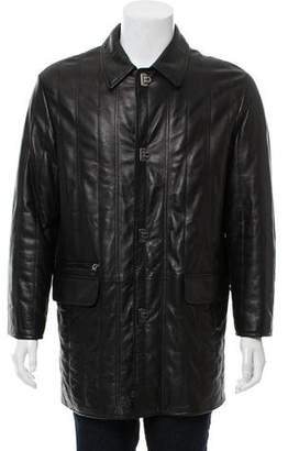 Salvatore Ferragamo Leather Turn-Lock Coat