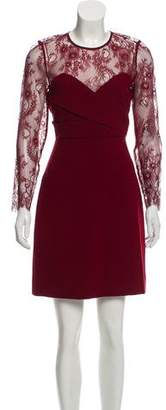 The Kooples Lace-Accented Long Sleeve Dress