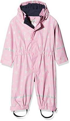 Playshoes Girl's Rain Jacket Rainoverall, Rainsuit Stars with Fleece lining