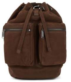 BOSS Hugo Fashion Show Capsule backpack in grainy calf leather One Size Dark Brown
