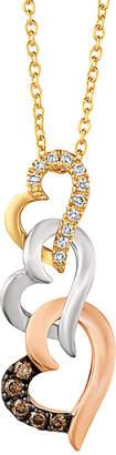 LeVian Le Vian 14K Three Tone 0.11 Ct. Tw. Diamond Necklace