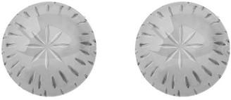 14K Gold 8mm Diamond-Cut Ball Stud Earrings