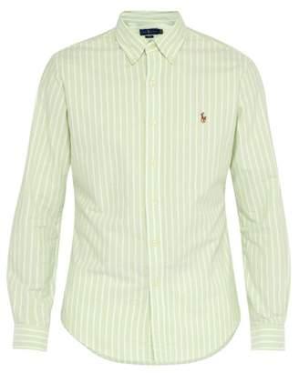 Polo Ralph Lauren Slim Fit Striped Cotton Shirt - Mens - Green