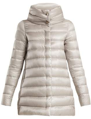 Herno Amelia Quilted Down Jacket - Womens - Silver