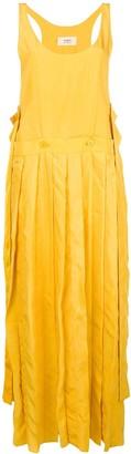 Ports 1961 pleated asymmetric-hem dress