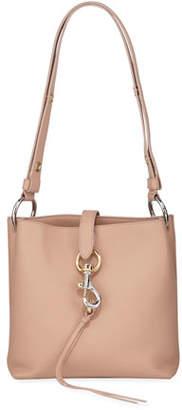 Rebecca Minkoff Megan Small Leather Feed Bag, Beige