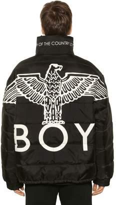 Boy London Reversible Eagle Nylon Puffer Jacket