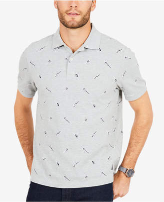 Nautica Men Oar-Print Polo