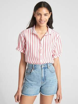 Gap Short Sleeve Stripe Shirt