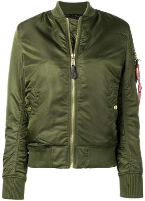 Alpha Industries satin bomber jacket