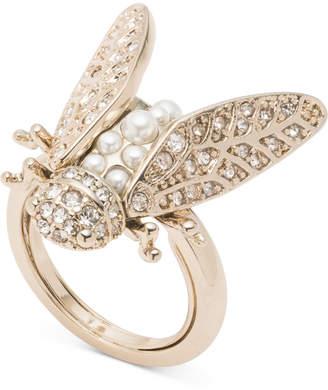 Marchesa Gold-Tone Crystal & Imitation Pearl Garden Ring