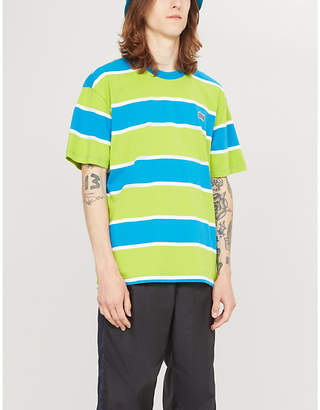 99a57ca3ae Obey Striped cotton-jersey T-shirt