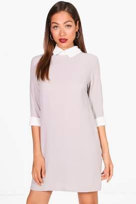 boohoo Shirt Collar Shift Dress