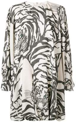 Valentino tiger print shift dress