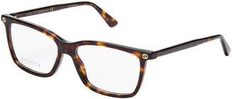 Gucci GG0094O Tortoiseshell-Look Rectangle Optical Frames