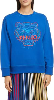 Kenzo Bicolor Embroidered Tiger Sweatshirt