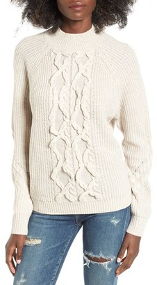 Women's Leith Cable Knit Sweater $69 thestylecure.com