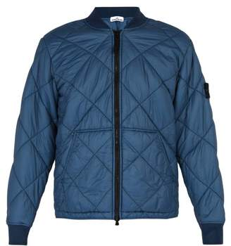 Stone Island Quilted Bomber Jacket - Mens - Blue