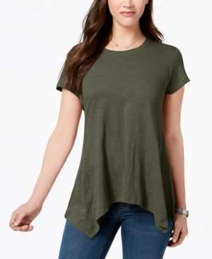 Style&Co. Style & Co Handkerchief-Hem T-Shirt, Created for Macy's