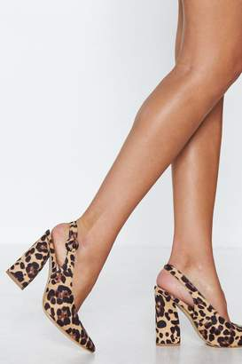 Nasty Gal Never a Dull Meow-ment Leopard Heel