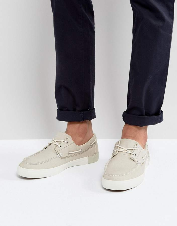 Timberland Timberland Newport Bay Canvas Boat Shoes