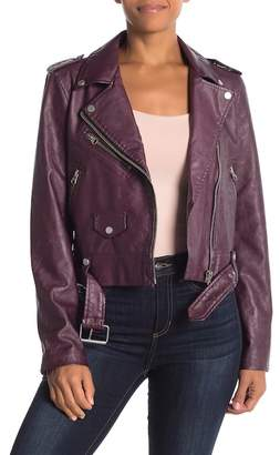 Bagatelle Faux Leather Biker Jacket