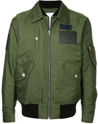 CK Calvin Klein twill flight jacket