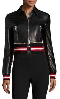 Givenchy Givenchy Leather Zip Front Jacket