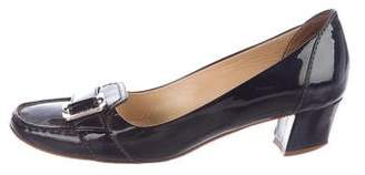 Tod's Patent Buckle Pumps