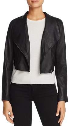 BB Dakota Shiloh Cropped Leather Biker Jacket