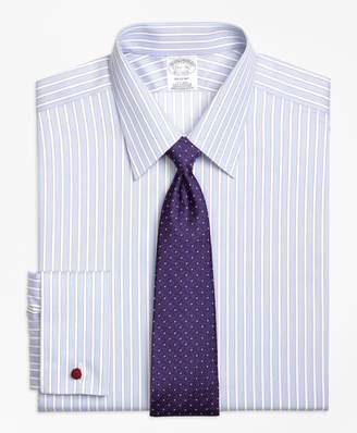 Brooks Brothers Regent Fitted Dress Shirt, Non-Iron French Cuff Hairline Framed Stripe