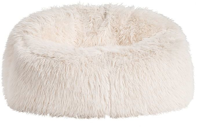 PBteen Ivory Furlicious Faux Fur Cloud Couch