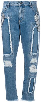 MARCO BOLOGNA embellished boyfriend jeans