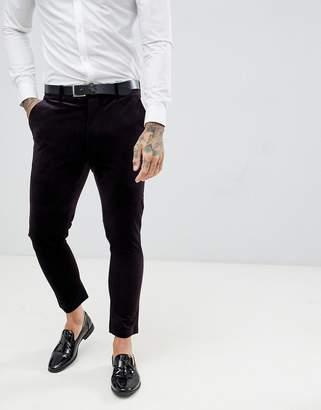 Gianni Feraud Skinny Fit Velvet Suit Pant
