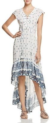 Jen's Pirate Booty Mali Lace-Up High Low Dress $264 thestylecure.com