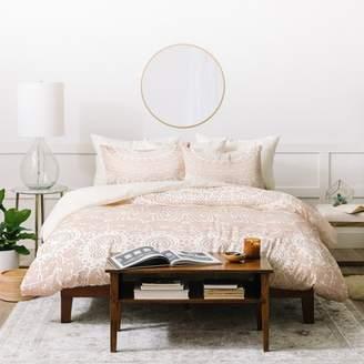 Deny Designs Monika Strigel Waiting For You Rose Duvet Cover Set Pink
