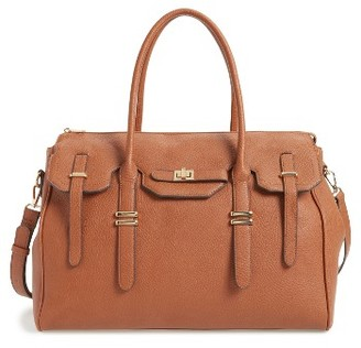 Sole Society Faux Leather Weekend Satchel - Brown $79.95 thestylecure.com